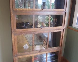 ANTIQUE OAK LAWYER'S BOOK CASE