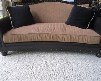 LEATHETR TRIMMED SOFA
