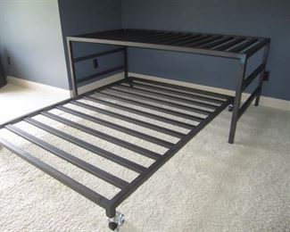 METAL TWIN AND FULL BED COMBO FROM ROOM  AND BOARD