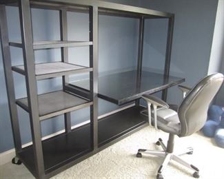 METAL DESK AND CHAIR