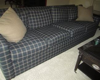 BLACK AND TAUPE SOFA BY RALPH LAUREN