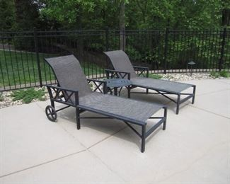 PAIR OF LOUNGERS
