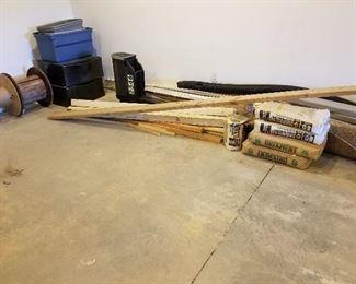 Lumber, Mailbox, Spools, Supplies
