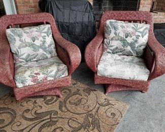 Weathermaster Bob Timerlake Custom Swivel Rocker Lounge Chairs