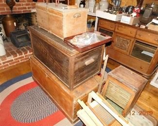 Nice primitive chests.