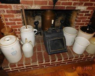 Copper water heater.