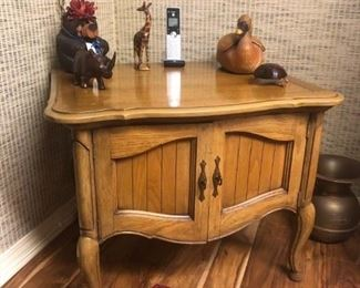 Pair of bedside tables - the items on top have sold.