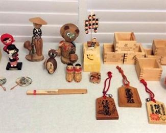 FMF005 Vintage Wooden Japanese Figurines and More