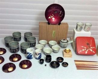 FMF008 Japanese Tea Set, Teacups, Lacquerware and More