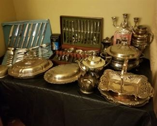 SP Serving Dishes 3 Sets Silverware