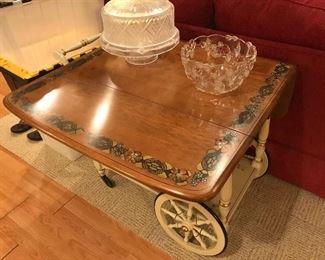 Ethan Allen painted tea cart