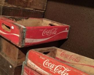 Coke cases and boxes full of tile