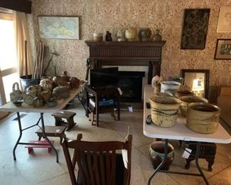 HUGE pottery collection which includes pieces by Jim Davis