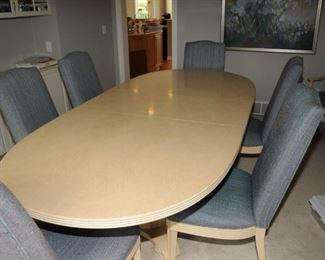LARGE DINING ROOM SET ~ WITH 8 CHAIRS AND PAD