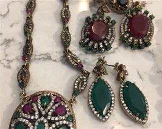 Turkish Jewelry -Vintage-Antique-Retro - $40 for the  emerald earrings. $40 for the ruby earrings.  You will get a number of compliments!