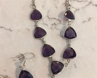 Amethyst Jewelry from India $50 for set