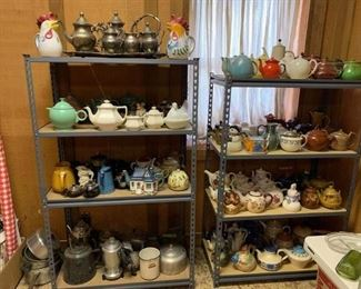 Teapots galore!