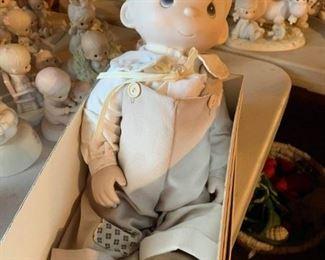 Precious Moments ceramic doll in box