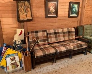 Metal signs, couch and more!
