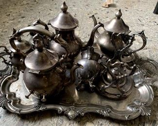 silver plated(over copper) teaset