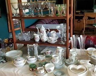 Lots of crystal, dishes and more