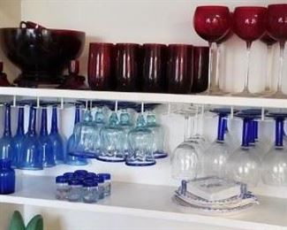 Lots of colorful glass