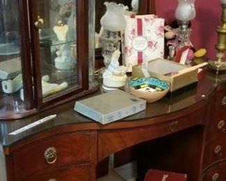 Awesome vintage vanity and display case