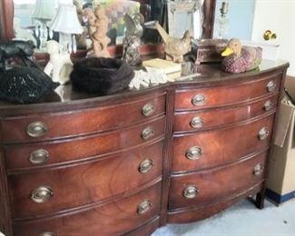 Large vintage dresser and mirror