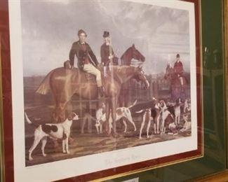 Several hunting prints