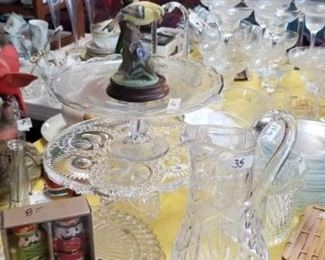 Lots of crystal , glass and porcelain