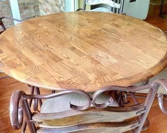 Another view of the Round Dining Table with 4 Chairs
