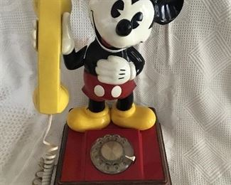 Antique Mickey Mouse Telephone