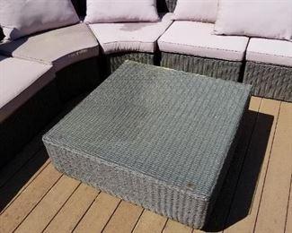 Wicker outdoor furniture.