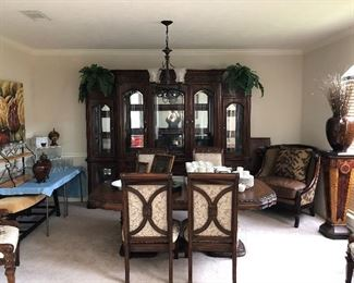 stunning china cabinet and living room table and chairs