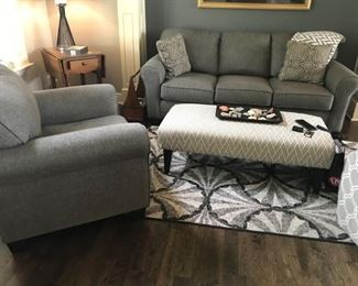 LIVING ROOM SET - SOFA AND MATCHING CHAIR