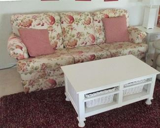 SOFA $150    COFFEE TABLE $55  HAS MATCHING END TABLES