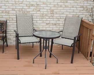 Outside 2 Chairs & Round Table
