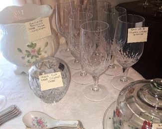Crystal glassware - stems and vases