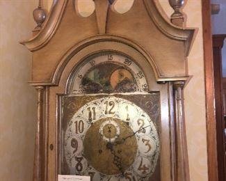 Grandfather Clock with sun and moon phase movement