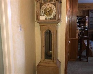 Very ornate old grandfather clock