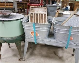 Double Galvanized Wash Tubs