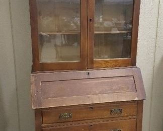 Great Old Bookcase with drop front desk and storage.