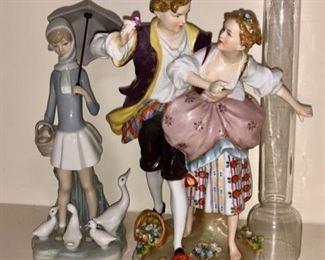 Lladros & vintage porcelain