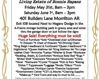 Hagans Estate Sale Flyer