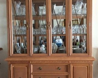 Pure solid wood china cabinet.  High quality.