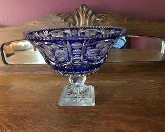 Czech Sawtooth Crystal Bowl