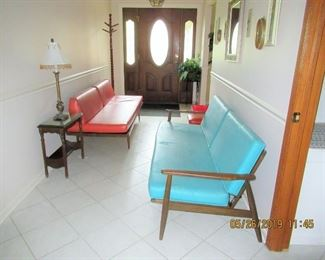 two mid century sofas