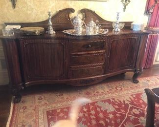 Over 150 year old sideboard, hand tooled. Lovely!