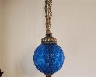 1970's Pendant Lamps - Great blue colors