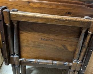 Ethan Allen TV Trays Solid Wood!